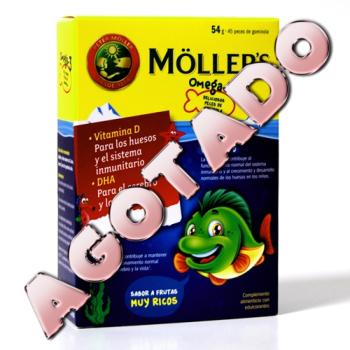 Mollers - Aceite de Hígado de Bacalao Omega3; 45 Peces de Gominola.