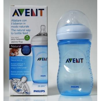 AVENT PHILIPS biberon natural 260 ml AZUL SCF695/17