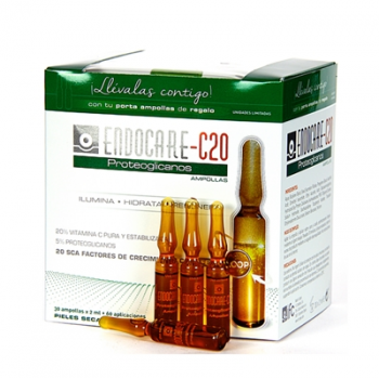 Endocare C20 30ampollas, Proteoglicanos hidratantes regeneradoras antiarrugas.
