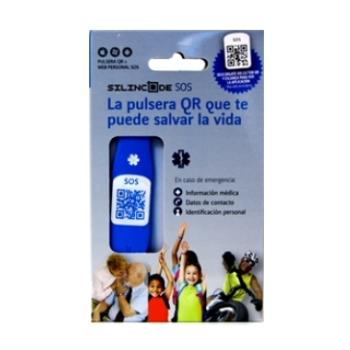 Pulsera Silincode SOS  S Color Azul.