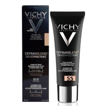 Vichy Dermablend Fondo Maquillaje Bronce nº55, 30 ml.