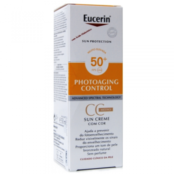 Eucerin  Protector Solar  Photoaging Control Crema CC Tono Medio Spf50+  50ml.