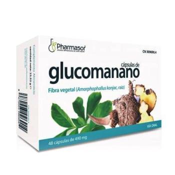 Glucomanano Pharmasor 400 mg 48capsulas, Fibra Vegetal.