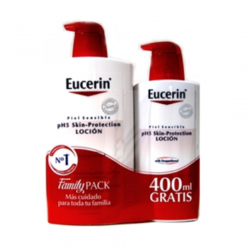 Eucerin Locion Hidratante Family Pack,1000 ml + 400ml Gratis.