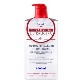 Eucerin 1000 ml, Locion Hidratante Ultra-Ligera.