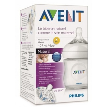 Philips Avent Biberón, Natural 0m+, 125 ml. SCF691/17 ROSA.