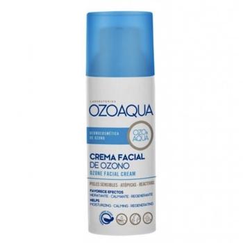 Ozoaqua  Crema Facial de Ozono, 50ml, Hidratante Calmante y Regeneradora.